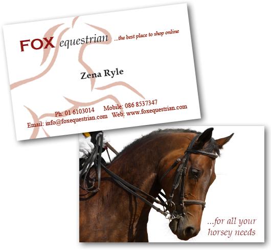Zedweb design web design graphic design kildare ireland fox equestrian business cards reheart Gallery