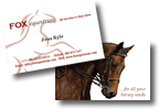 Fox Equestrian Business Cards